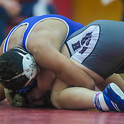 Middletown Isiah Mitchell and Hodgson Joey Fonseca grapple in a 170 pound bout during the Blue Hen Conference Wrestling Tournament Finals Saturday, Feb. 20, 2016 at William Penn High School in New Castle.