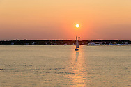 Sunset Greenport, Southold, Peconic River,  Long Island, NY