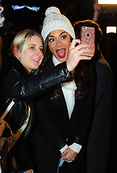 © Licensed to London News Pictures. 07/12/2016<br /> Nicole Scherzinger fan selfie.<br /> X-Factor finalist Matt Terry is in Bromley tonight with Nicole Scherzinger performing a home coming gig in Market Square,Bromley  <br /> Photo credit :Grant Falvey/LNP