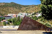 Walter Benjamin monument by Dani Karavan, Portbou, Costa Brava, Catalonia, Spain.