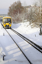 © under license to London News Pictures. .2010.12. 20  A train makes it's way to London (today) from Kent. Snow and ice is causing disruption in Kent and the surrounding areas including trains to London. Picture credit should read Grant Falvey/London News Pictures...