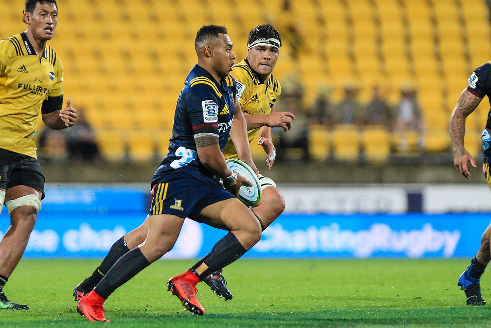 Action during the super rugby union  game between Hurricanes  and Highlanders, played at Westpac Stadium, Wellington, New Zealand on 24 March 2018.  Hurricanes won 29-12.