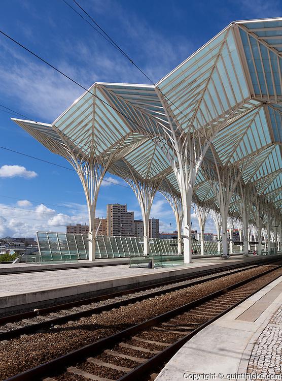 Oriente Station (Gare do Oriente), Lisbon designed by architect Santiago Calatrava, 1988