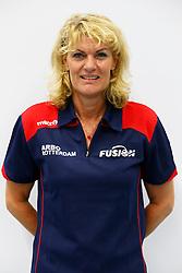 03-09-2013 VOLLEYBAL: ARBO ROTTERDAM FUSION 2013 - 2014: ROTTERDAM<br /> Elvira Groenhuijzen, Coach<br /> &copy;2013-FotoHoogendoorn.nl / Pim Waslander