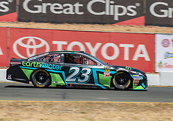 June 22, 2018 - Sonoma, CA, U.S. - SONOMA, CA - JUNE 22:  Gray Gaulding, driving the #(23) Toyota for BK Racing going through the paces on Friday, June 22, 2018 at the Toyota/Save Mart 350 Practice day at Sonoma Raceway, Sonoma, CA (Photo by Douglas Stringer/Icon Sportswire) (Credit Image: © Douglas Stringer/Icon SMI via ZUMA Press)