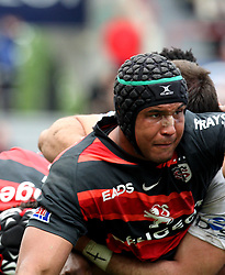 Thierry Dusautoir of Toulouse in action.  Stade Toulousain v Brive, 24eme Journee, Top 14. Stade Ernest Wallon, Toulouse, France, 21 Avril 2012.