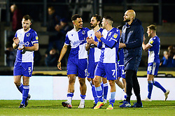 Edward Upson of Bristol Rovers is congratulated after the game  - Mandatory by-line: Dougie Allward/JMP - 07/12/2019 - FOOTBALL - Memorial Stadium - Bristol, England - Bristol Rovers v Southend United - Sky Bet League One