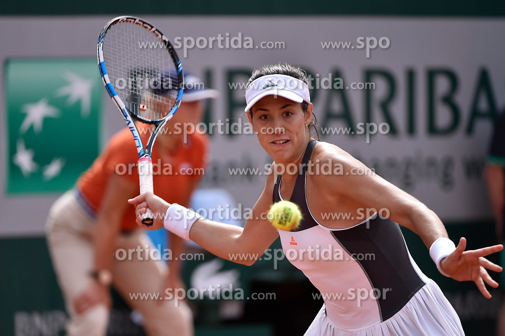 04.06.2017, Roland Garros, Paris, FRA, WTA Tour, French Open, im Bild Garbine Muguruza (ESP) // during the French Open Tournament of the WTA Tour at the Roland Garros in Paris, France on 2017/06/04. EXPA Pictures © 2017, PhotoCredit: EXPA/ Vianney Thibaut