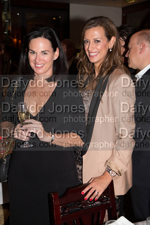 LUCY BRITTEN-JONES; EVELINA GIRLING, Dinner in aid of the China Tiger Revival hosted by Sir David Tang and Stephen Fry  at China Tang, Park Lane, London. 1 October 2013. ,