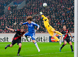 23.11.2011, BayArena, Leverkusen, Germany, UEFA CL, Gruppe E, Bayer 04 Leverkusen (GER) vs Chelsea FC (ENG), im Bild Chelsea's David Luis in action against Bayer Leverkusen during the football match of UEFA Champions league, group E, between Bayer Leverkusen (GER) and FC Chelsea (ENG) at BayArena, Leverkusen, Germany on 2011/11/23. EXPA Pictures © 2011, PhotoCredit: EXPA/ Sportida/ David Tickle..***** ATTENTION - OUT OF ENG, GBR, UK *****
