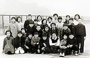 elementary school children group photo 1959 Japan