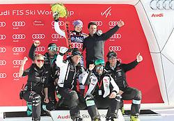 27.01.2018, Lenzerheide, SUI, FIS Weltcup Ski Alpin, Lenzerheide, Riesenslalom, Damen, Flower Zeremonie, im Bild Viktoria Rebensburg (GER) Teamfoto // Viktoria Rebensburg of Germany during the Flowers ceremony for the ladie's Giant Slalom of FIS Ski Alpine World Cup in Lenzerheide, Austria on 2018/01/27. EXPA Pictures &copy; 2018, PhotoCredit: EXPA/ Sammy Minkoff<br /> <br /> *****ATTENTION - OUT of GER*****