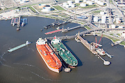 Massive tankers  in the Houston Ship Channel