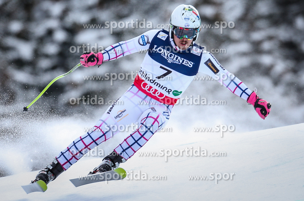 11.02.2013, Planai, Schladming, AUT, FIS Weltmeisterschaften Ski Alpin, Super Kombination, Abfahrt, Herren, im Bild  Ondrej Bank (CZE) // Ondrej Bank of Czech Republic  in action during Mens Super Combined Downhill at the FIS Ski World Championships 2013 at the Planai Course, Schladming, Austria on 2013/02/11. EXPA Pictures © 2013, PhotoCredit: EXPA/ Johann Groder