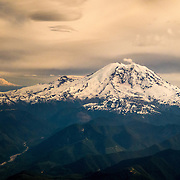 Mount Rainier, Mount Adams and the White River