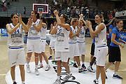 LATINA 27 GIUGNO 2012<br /> BASKET <br /> ITALIA - FINLANDIA<br /> NELLA FOTO TEAM ITALIA<br /> FOTO CIAMILLO