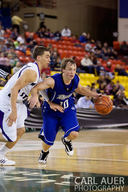 November 27th, 2010:  Anchorage, Alaska - Drake Bulldog Ryan Wedel (10) drives the in the 81-82 Drake loss to Weber State in the third place game at the Great Alaska Shootout.