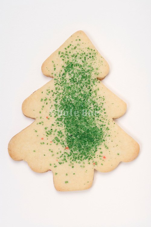 cookie in the form of a Christmas tree