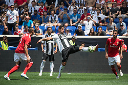 July 28, 2018 - Harrison, New Jersey, United States - Juventus midfielder SAMI KHEDIRA (6) brings down the ball during the International Champions Cup at Red Bull Arena in Harrison, NJ.  Juventes vs Benfica (Credit Image: © Mark Smith via ZUMA Wire)