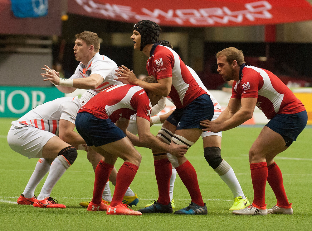 England and Chile on the line out during the pool stages of the Canada Sevens,  Round Six of the World Rugby HSBC Sevens Series in Vancouver, British Columbia, Saturday March 11, 2017. <br /> <br /> Jack Megaw.<br /> <br /> www.jackmegaw.com<br /> <br /> jack@jackmegaw.com<br /> @jackmegawphoto<br /> [US] +1 610.764.3094<br /> [UK] +44 07481 764811