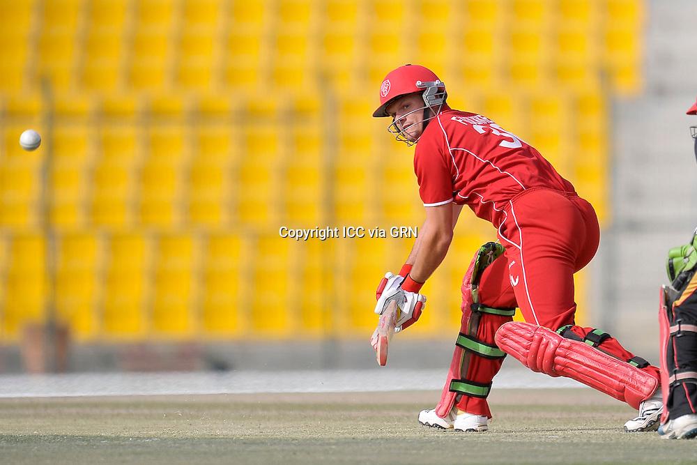 Denmark's Fredrick Klokker at the ICC World Twenty20 Qualifier UAE 2012. Pix ICC/Thusith Wijedoru