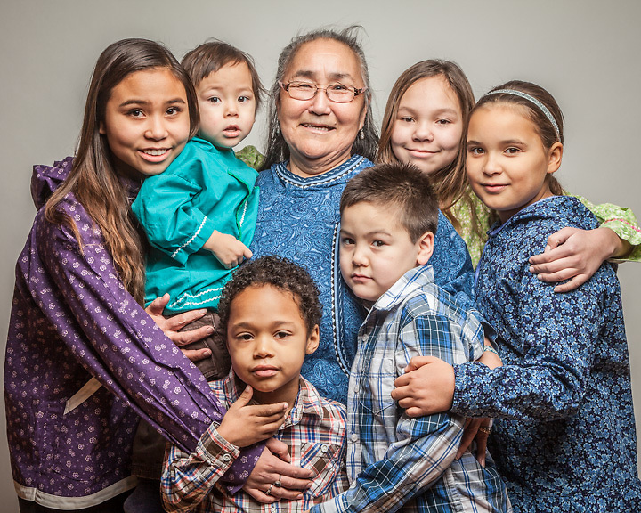 12.18.2012  Marie Meade and her grandchildren, Anchorage.