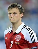 FUSSBALL  EUROPAMEISTERSCHAFT 2012   VORRUNDE Daenemark - Deutschland       17.06.2012 William Kvist (Daenemark)