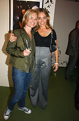 Left to right, MARIELLA FROSTRUP and JEANNE MARINE at a party to launch the One T-Shirt by Edun held at Harvey Nichols, Knightsbridge, London on 18th October 2006.<br />