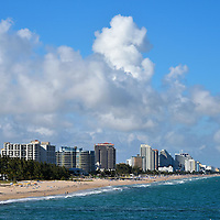 Skyline of Fort Lauderdale Beach, Florida<br /> Welcome to Fort Lauderdale, a Florida gem with 23 miles of beaches along the Atlantic coast.  It is home to 170,000 people in the city and a total of 5.7 million in the metropolitan area.  Many of these residents are snowbirds who head south for the winter.  It is also a popular tourist destination with over 12 million visitors a year. Who can resist the sun, sand, water and glamor of the &ldquo;Venice of America?&rdquo;