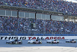 October 14, 2018 - Talladega, Alabama, United States of America - Kurt Busch (41), Clint Bowyer (14), Kevin Harvick (4), and Aric Almirola (10) lead the field during the 1000Bulbs.com 500 at Talladega Superspeedway in Talladega, Alabama. (Credit Image: © Justin R. Noe Asp Inc/ASP via ZUMA Wire)