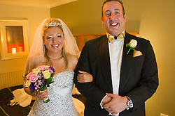 Visually impaired bride with her brother before the ceremony.
