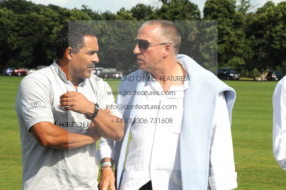 Left to right, DALEY THOMPSON and SIR IAN BOTHAM at the IWC Laureus Polo Cup Day 2008 held at Ham Polo Club, Surrey on 22nd June 2008.<br /><br />NON EXCLUSIVE - WORLD RIGHTS