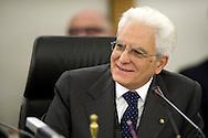 Rome 11th 022015, new president of the republic visits. In the picture Mr Sergio Mattarella