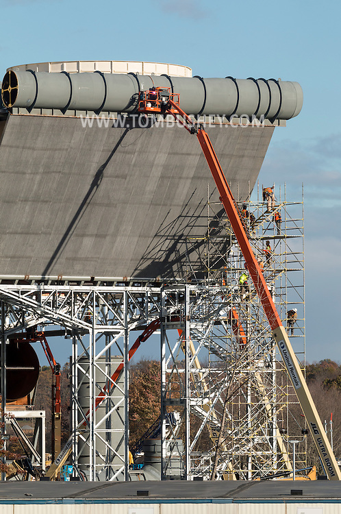 Town of Wawayanda, New York - Construction continues on the CPV Valley Energy Center on Oct. 22, 2016. The CPV Valley Energy Center is a natural gas combined-cycle electric power generator capable of generating upwards of 650 MW.