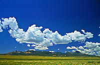 Cumulus mediocris clouds over southwestern Colorado.