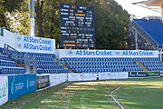 Autumnal scene before Day 4 of the Specsavers County Champ Div 2 match between Glamorgan County Cricket Club and Leicestershire County Cricket Club at the SWALEC Stadium, Cardiff, United Kingdom on 19 September 2019.