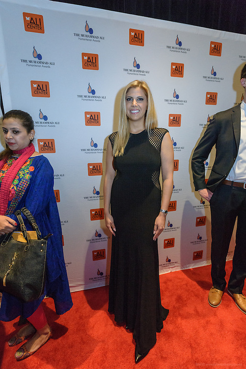 Tina Hovsepian on the red carpet at the fourth annual Muhammad Ali Humanitarian Awards Saturday, Sept. 17, 2016 at the Marriott Hotel in Louisville, Ky. (Photo by Brian Bohannon for the Muhammad Ali Center)