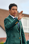 Isaiah Salinda (USA) waves to the crowds during the Walker Cup Opening Ceremony, Friday at the Royal Liverpool Golf Club, Friday, Sept 6, 2019, in Hoylake, United Kingdom. (Steve Flynn/Image of Sport)