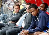 27-05-2007: Voetbal: VVV Venlo - RKC Waalwijk: Venlo<br /> RKC Waalwijk is gedegradeerd naar de Jupiler League.<br /> Berusting op de bank bij RKC. Mark Wotte weet dat het is gebeurd, terwijl Mulder en Garcia hun verdriet tonen<br /> foto : Geert van Erven