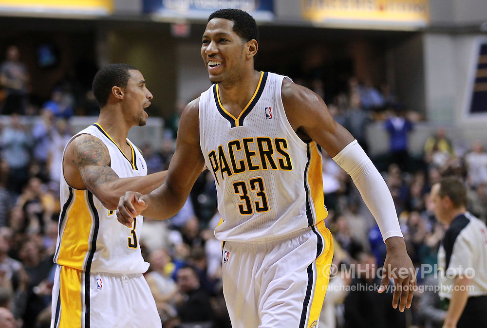 Dec. 30, 2011; Indianapolis, IN, USA; Indiana Pacers small forward Danny Granger (33) walks back to the bench late in the game against the Cleveland Cavaliers at Bankers Life Fieldshouse. Indiana defeated Cleveland 81-91. Mandatory credit: Michael Hickey-US PRESSWIRE