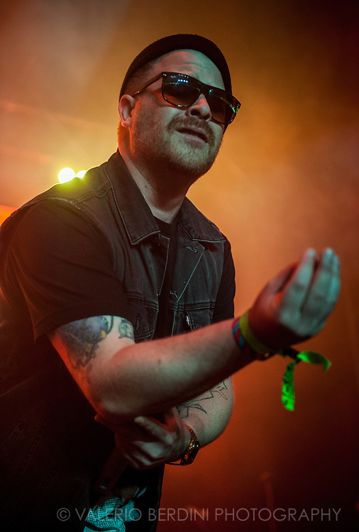 EL-P of Hip Hop duo Run The Jewels live on stage at Field Day 2015 in Victoria Park, London