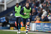 Preston North End defender Tommy Spurr (17) warming up during the EFL Sky Bet Championship match between Preston North End and Brighton and Hove Albion at Deepdale, Preston, England on 14 January 2017.