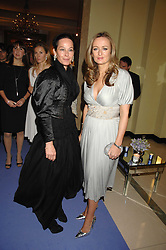 Left to right, AMANDA HARLECH and LUCY YEOMANS at the 10th Anniversary Party of the Lavender Trust, Breast Cancer charity held at Claridge's, Brook Street, London on 1st May 2008.<br />