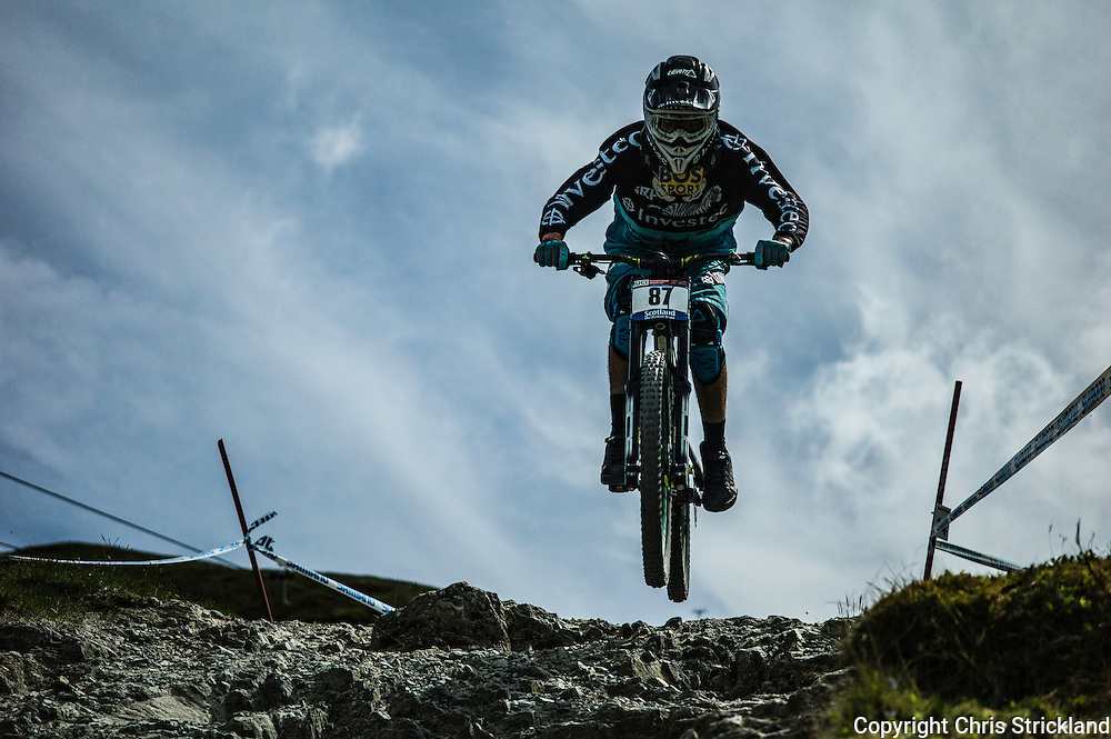 Nevis Range, Fort William, Scotland, UK. 3rd June 2016. Stefan Garlacki of South Africa in action as the worlds leading mountain bikers descend on Fort William for the UCI World Cup on Nevis Range.