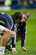 Cristiano Ronaldo and Pepe warm-up