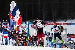 Tarjei Boe (NOR), Jakov Fak (SLO) during the Mixed Relay 2x 6 km / 2x 7,5 km at day 3 of IBU Biathlon World Cup 2019/20 Pokljuka, on January 23, 2020 in Rudno polje, Pokljuka, Pokljuka, Slovenia. Photo by Peter Podobnik / Sportida