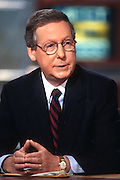 "WASHINGTON, DC - September 21: Senator Mitch McConnell on ""Meet The Press"" in Washington, DC. September 21, 1997  (Photo RIchard Ellis)"