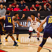 09 December 2017:  The San Diego State men's basketball team hosts the California Golden Bears Saturday afternoon. The Aztecs lost 63-62 to Cal.<br /> www.sdsuaztecphotos.com