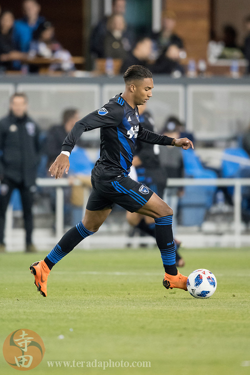 May 19, 2018; San Jose, CA, USA; San Jose Earthquakes forward Danny Hoesen (9) during the second half against D.C. United at Avaya Stadium. D.C. United defeated the Earthquakes 3-1.