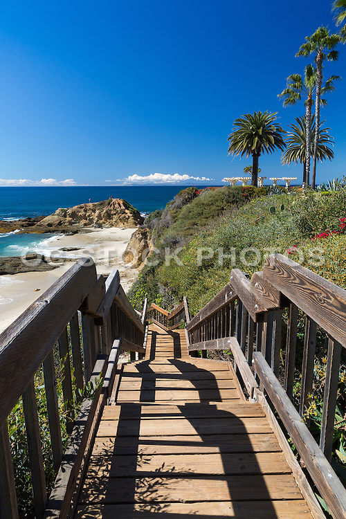 Stairs Going to the Beach fom the Montage Resort in Laguna Beach